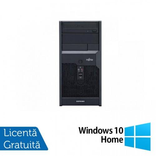 Calculator Fujitsu Esprimo P2560, Intel Core 2 Duo E7500 2.93GHz, 4GB DDR3, 160GB SATA, DVD-ROM + Windows 10 Home, Refurbished