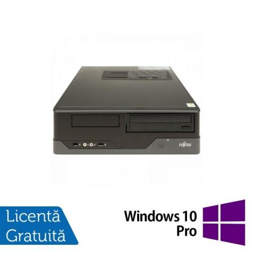 Calculator FUJITSU SIEMENS E400 SFF, Intel Celeron G540 2.50GHz, 4GB DDR3, 250GB SATA, DVD-ROM + Windows 10 PRO