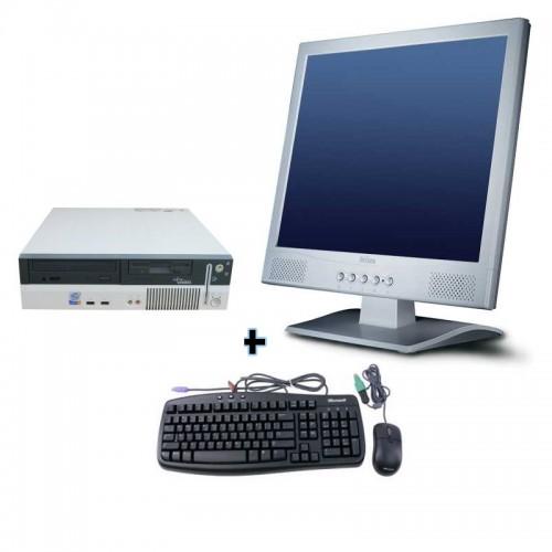 PC SH Fujitsu Siemens E600 Intel Pentium 4, 3.0 Ghz, 1Gb DDR, 40Gb HDD, DVD-ROM cu Monitor 15 inch LCD ***