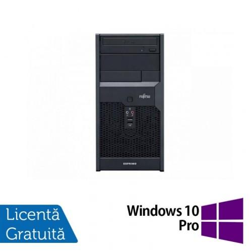 Calculator Fujitsu Siemens Esprimo P2560, Intel Pentium Dual Core E7500 2.93GHz, 2GB DDR3, 250GB SATA, DVD-RW + Windows 10 PRO