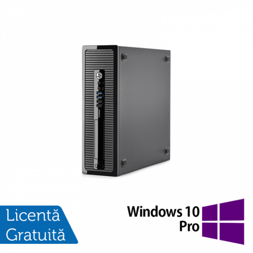 Calculator HP 400 G1 Desktop, Intel Pentium G3250 3.20GHz, 4GB DDR3, 500GB SATA + Windows 10 Pro, Refurbished