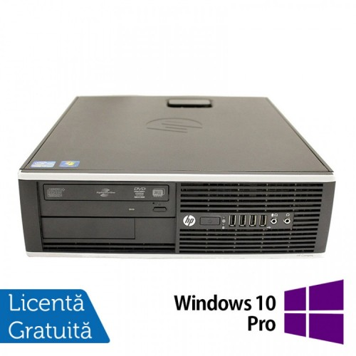 Calculator HP 8200 SFF, Intel Core i5-2400 3.10GHz, 8GB DDR3, 500GB SATA, DVD-ROM, Port Serial, Display Port + Windows 10 Pro, Refurbished (Top Sale!)