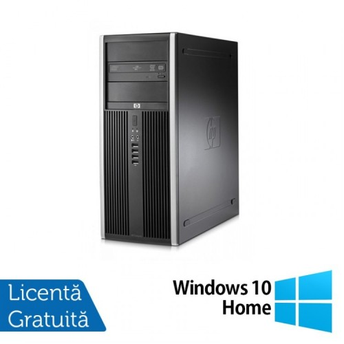 Calculator HP Compaq 8000 Elite Tower, Intel Core 2 Duo E7500 2.93GHz, 4GB DDR3, 250GB SATA, DVD-RW + Windows 10 Home, Refurbished