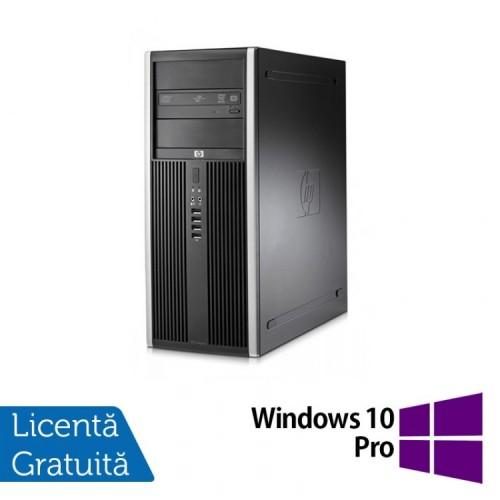 Calculator HP Compaq 8000 Elite Tower, Intel Core 2 Duo E7500 2.93GHz, 4GB DDR3, 250GB SATA, DVD-RW + Windows 10 Pro, Refurbished