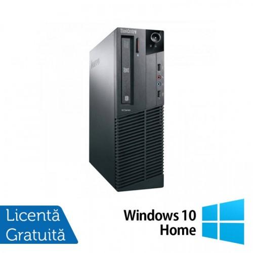 Calculator Lenovo M81 SFF, Intel Core i7-2600 3.40GHz, 4GB DDR3, 250GB SATA, DVD-ROM + Windows 10 Home, Refurbished