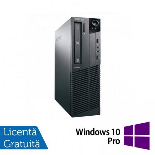 Calculator Lenovo M81 SFF, Intel Core i5-2400 3.10GHz, 4GB DDR3, 250GB SATA, DVD-ROM + Windows 10 Home, Refurbished