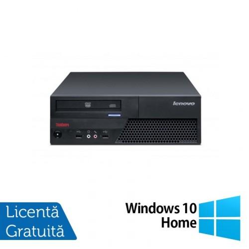 Calculator LENOVO ThinkCentre M58 SFF, Intel Core 2 Duo E8400 3.0 GHz, 2GB DDR3, 320GB SATA, DVD-ROM + Windows 10 Home