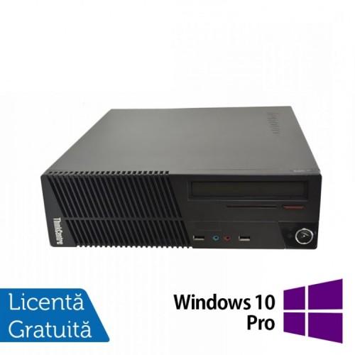 Calculator Lenovo ThinkCentre M71e SFF, Intel Core i3-2100 3.10GHz, 4GB DDR3, 250GB SATA, DVD-RW + Windows 10 Pro, Refurbished