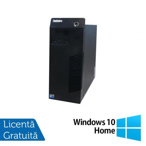 Calculator Lenovo Thinkcentre M72E Tower, Intel Core i3-2100 3.10GHz, 4GB DDR3, 250GB SATA + Windows 10 Home, Refurbished