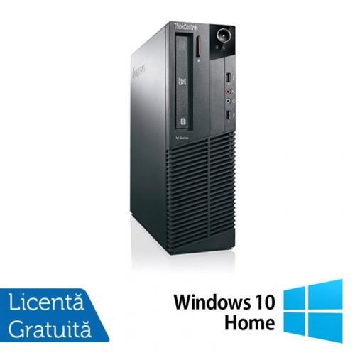 Calculator Lenovo Thinkcentre M83 SFF, Intel Pentium G3220 3.00GHz, 4GB DDR3, 500GB SATA + Windows 10 Home , Refurbished