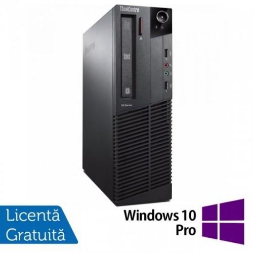 Calculator Lenovo Thinkcentre M83 SFF, Intel Pentium G3220 3.00GHz, 4GB DDR3, 500GB SATA + Windows 10 Pro, Refurbished