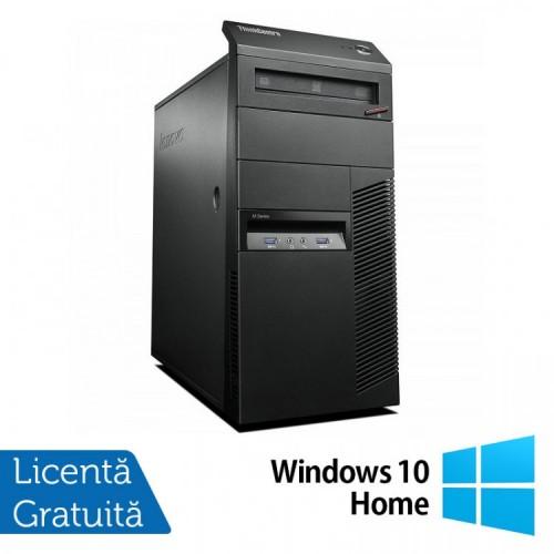 Calculator Lenovo Thinkcentre M83 Tower, Intel Pentium G3220 3.00GHz, 4GB DDR3, 250GB SATA, DVD-ROM + Windows 10 Home, Refurbished