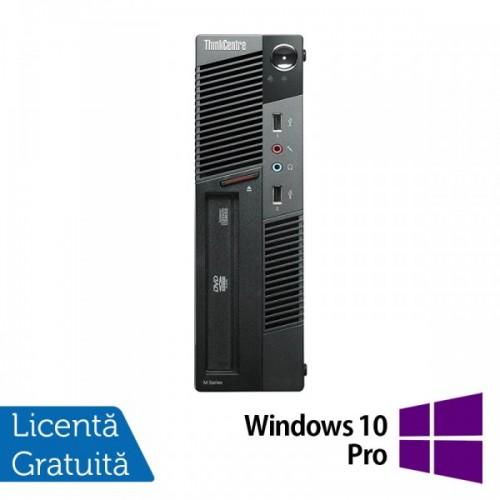 Calculator LENOVO Thinkcentre M91P USFF, Intel Core i5-2400s 2.50GHz, 4GB DDR3, 500GB SATA, DVD-RW + Windows 10 Pro