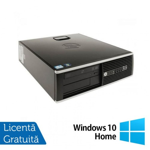 Calculator Refurbished HP 8200 Elite SFF, Intel Core i3-2100 3.10GHz, 4GB DDR3, 250GB SATA, DVD-ROM, Port Serial, Display Port + Windows 10 Home