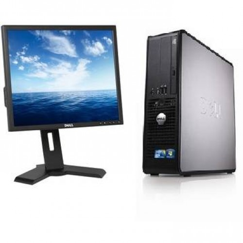 Sistem PC + Monitor LCD Dell OptiPlex 780 Dual Core E5300 2.6GHz 2GB DDR3 160GB HDD Sata DVD Desktop + Monitor Dell P190S