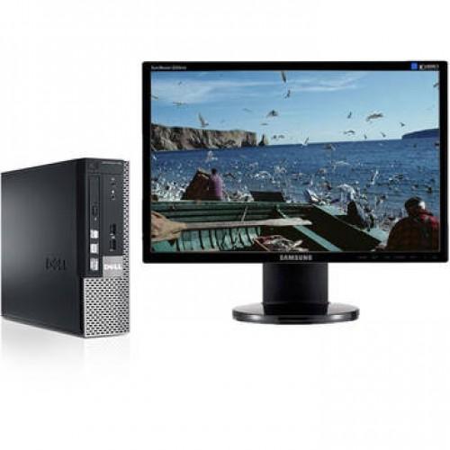 Sistem PC + Monitor LCD Dell OptiPlex 790 i3-2100 Generatia 2 3.1GHz 4Gb DDR3 250GB HDD Sata RW Desktop + Samsung 2243 4 ms 22 inch
