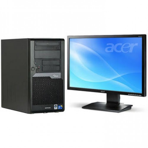 Sistem PC + Monitor LCD Fujitsu P5730 Dual Core E5400 2.7 GHz 2GB DDR2 160GB HDD Sata RW Tower + Acer B223W 22 inch 5 ms