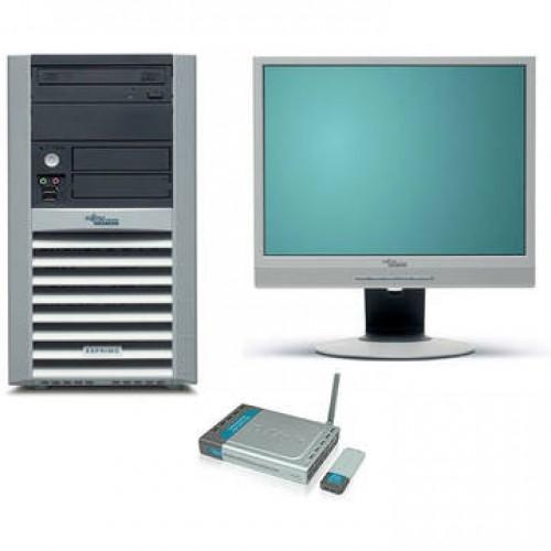 Sistem PC + Monitor LCD Fujitsu P5915 Intel Celeron 3.2GHz 2GB DDR2 250GB HDD Sata RW Tower + Fujitsu Scenicview P17-2 17 inch