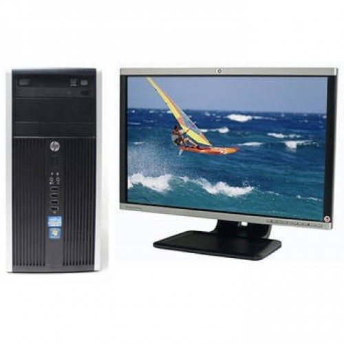 Pachet PC+LCD HP 6200 Pro tower, Intel Core i5-2400, 3.1GHz, 4Gb DDR3, 500Gb, DVD