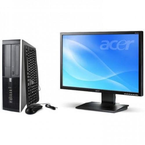 Sistem PC + Monitor LCD HP 8000 Elite E8400 Core 2 Duo 3.0GHz 2GB DDR3 250GB HDD Sata RW Desktop + Acer B223W 22 inch 5 ms