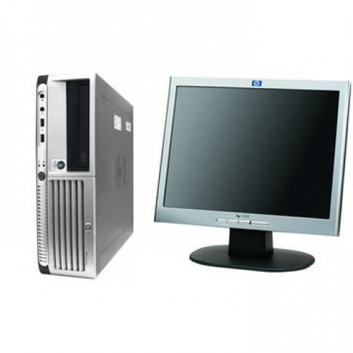 Sistem PC + Monitor LCD HP DC7700 Core 2 Duo E6700 2.67GHz 2GB DDR2 80GB Sata DVD Desktop + HP 1702 17 inch