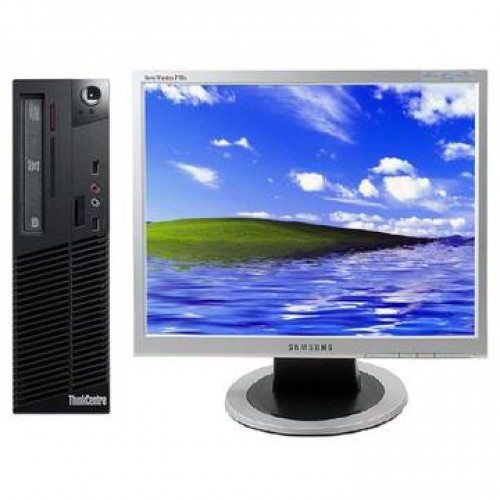 Sistem PC + Monitor LCD Lenovo M57 Core 2 Duo E6550 2.33GHz 1GB DDR2 80GB HDD Sata RW Desktop + Samsung 710N 17 inch