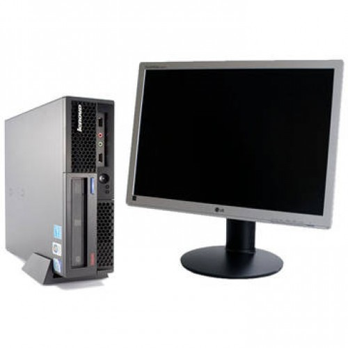 Sistem PC + Monitor LCD Lenovo ThinkCentre M58p Quad Core Q8200 2.33Ghz 4Gb DDR3 160Gb HDD Sata + LG Flatron W2242PE