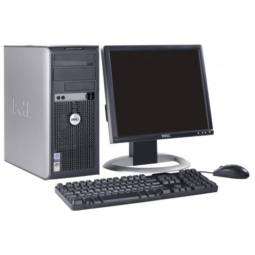 Pachet Calculator Dell Optiplex GX620 Tower, Intel Pentium D 3.0 GHz, 2GB DDR2, 80GB HDD, DVD-ROM