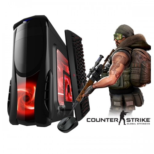 Calculator Gaming Fortnite Tower Intel Core i3-4130 3,40GHz , 4Gb DDR3, 500 GB HDD - GTA5, CS-GO, Fortnite