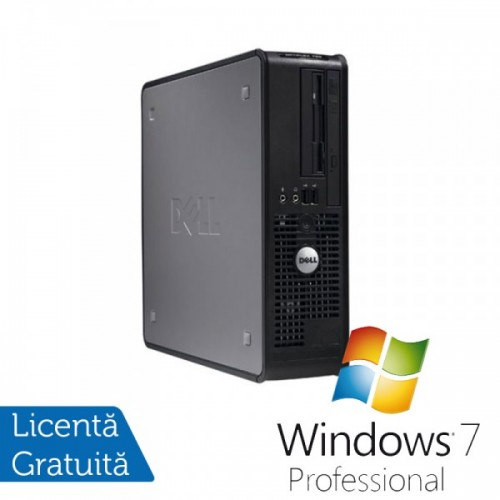Calculator DELL GX780 SFF, Intel Core 2 Duo E7500 2.93GHz, 4GB DDR3, 160GB SATA, DVD-RW + Windows 7 Professional