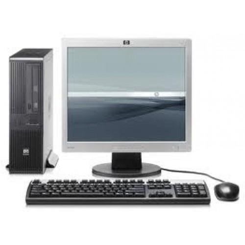 PACHET Calculator SH HP Compaq RP5700 desktop, Intel Core 2 Duo E7400 2.8Ghz,  2Gb DDR2, 160GB HDD, DVD-RW cu Monitor LCD