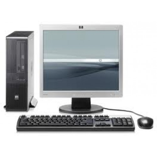 PACHET Calculator SH HP Compaq RP5700 desktop, Intel Core 2 Duo E6400 2.13Ghz,  2Gb DDR2, 80GB HDD, DVD cu Monitor LCD
