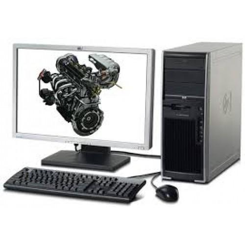 PACHET Workstation Second Hand XW4600 Core 2 Quad Q6600, 2.40Ghz, 4Gb RAM DDR2 ECC, 160Gb SATA, DVD cu Monitor LCD