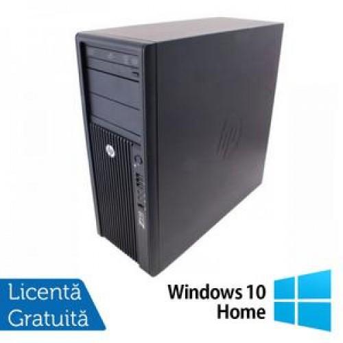 Statie Grafica HP Z210, Intel Xeon E3-1240, 3.3 Ghz, 8Gb DDR3, 750Gb HDD, DVD-ROM + Windows 10 Home