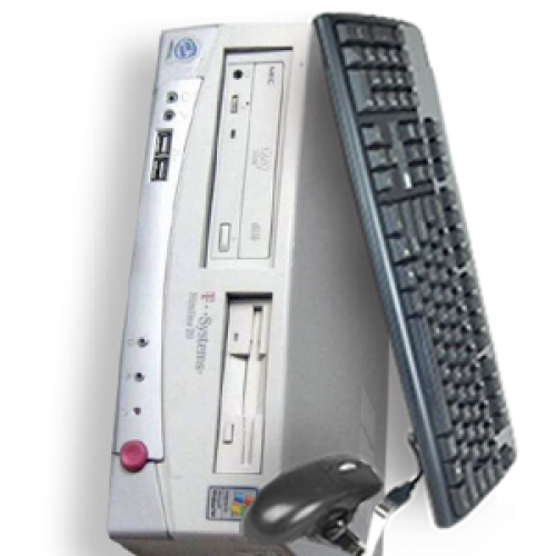 Desktop T-System SlimLine 20,Procesor Pentium 4, 3.2Ghz,Memorie RAM 512Mb DDR,HDD 80Gb,Unitate Optica DVD-ROM