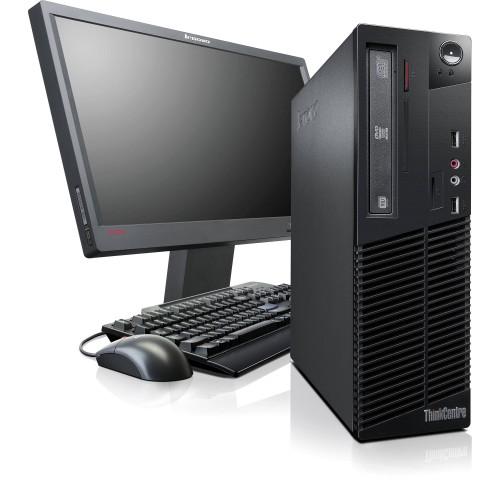 Pachet PC+LCD Lenovo M72E, Intel Core i3-3220 3,30Ghz, 4GB DDR3, HDD 250GB, DVD