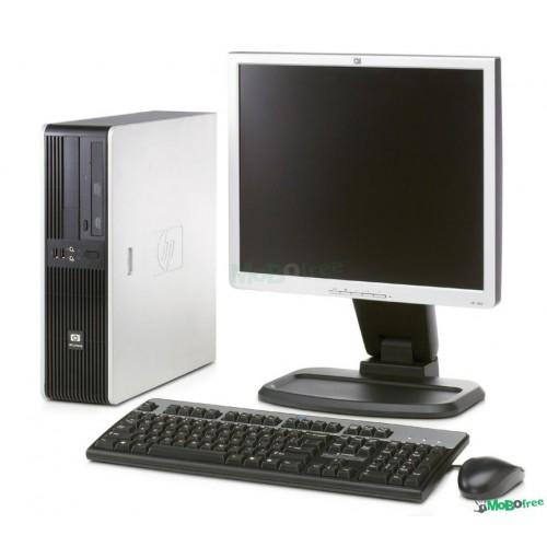 PACHET Calculator HP DC5700 Desktop, Dual Core E2140, 1.60Ghz, 2Gb DDR2, 160 GB SATA, DVD-ROM cu Monitor LCD