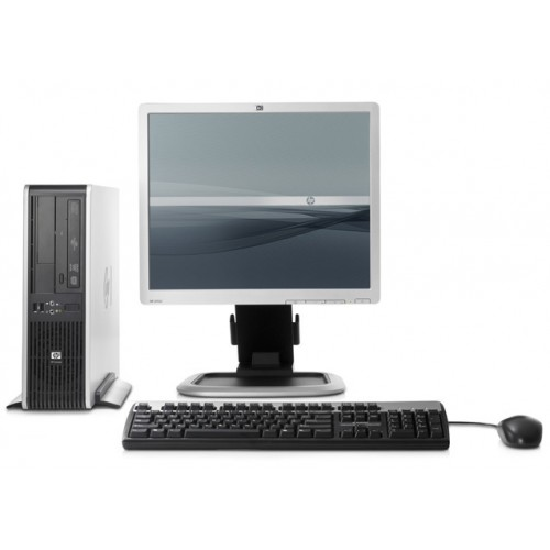 Calculator SH HP DC5800 Desktop, Intel Core 2 Duo  E6550, 2.33Ghz, 2Gb DDR2, 160Gb HDD, DVD-RW cu Monitor LCD