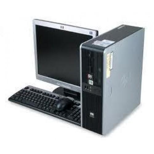 PC HP DC5850, AMD Athlon 64 x2 4400+ Dual Core 2.3Ghz, 2Gb DDR2, 80Gb, DVD-ROM cu Monitor LCD