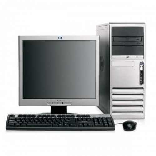 PC second hand HP Compaq DC7100 Intel Pentium 4, 2.8GHz, 1Gb DDR ,80Gb HDD, DVD-ROM cu Monitor LCD