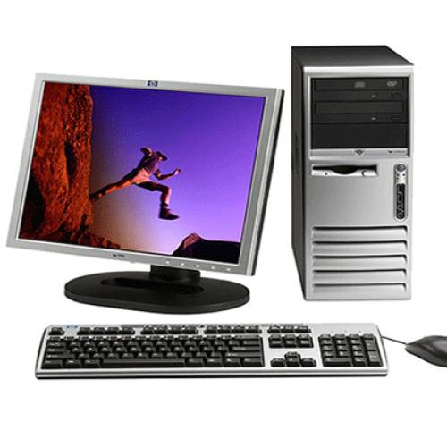 PC HP Compaq Tower D530, Intel Pentium 4 2.6Ghz, 2GB DDR, 80Gb HDD, DVD-ROM cu Monitor LCD