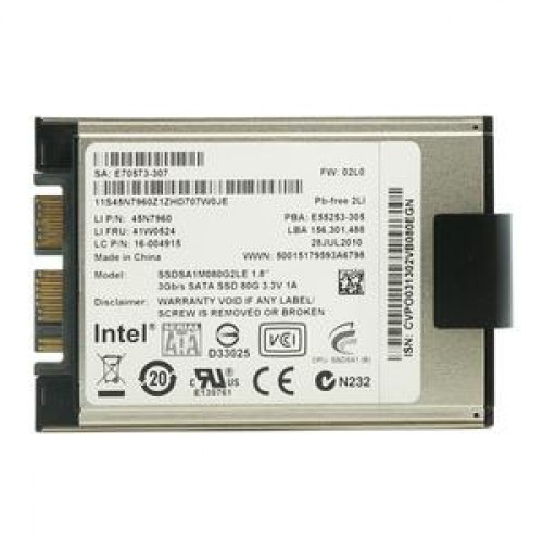SSD Laptop Intel 80Gb, uSATA 3, 1.8 inch, SSDSA1M080G2LE, 3Gb/s