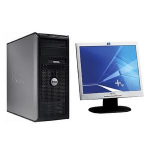 Calculator Dell Optiplex 360, Intel Dual Core E5200, 2.5 Ghz, 2Gb, DDR2, 160GB, DVD-RW + Monitor 17 inch, 1280 x 1024