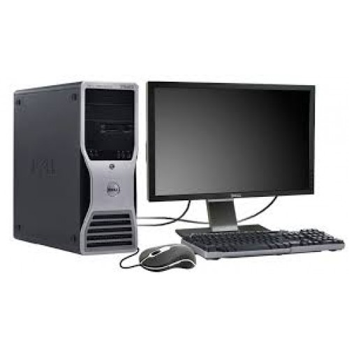 DELL Precision T5400, 2 x Intel Xeon Quad Core E5420, 2.5Ghz, 8GB DDR2 FBD, 2 x 250Gb HDD, DVD-RW cu Monitor LCD ***