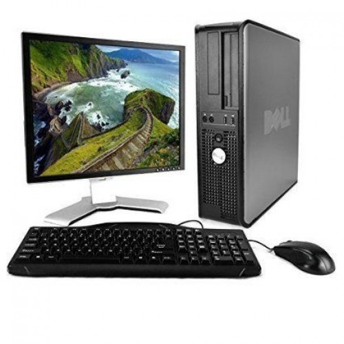 Calculator Dell Optiplex 360 Desktop Core 2 Duo E7400  2.80Ghz 4Gb DDR2, 160Gb DVD-RW cu Monitor LCD