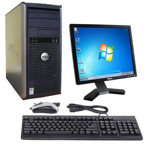 Pachet PC Dell Optiplex 330 Tower, Intel Core 2 Duo E6550 2.33GHz, 2GB DDR2, 160GB SATA , DVD-ROM cu monitor LCD