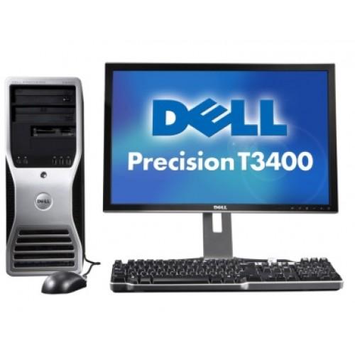 Pachet Dell Precision T3400, Intel Core 2 Duo E8400, 3.0Ghz, 4GB DDR2, 250Gb, DVD-RW, Video 256MB cu monitor LCD