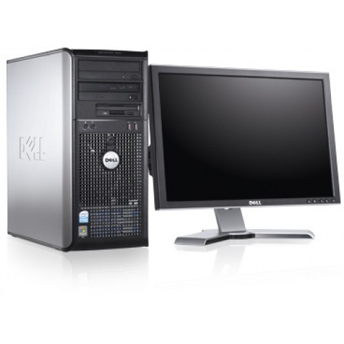 PC SH Dell Optiplex 360 Tower, Core 2 Duo E7400 2,8GHz , 2Gb DDR2, 160Gb HDD, DVD-RW cu Monitor LCD