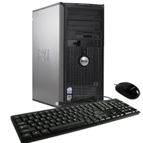 PC Dell Optiplex GX755, Tower, Intel Core 2 Duo E7200, 2.53Ghz, 2GB DDR2, 160GB HDD, DVD-RW