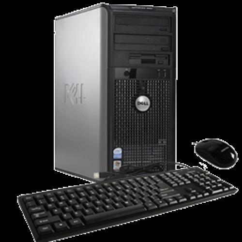 PC Dell Optiplex GX755, Tower, Intel Core 2 Duo E7200, 2.53Ghz, 2GB DDR2, 160GB HDD, DVD-RW